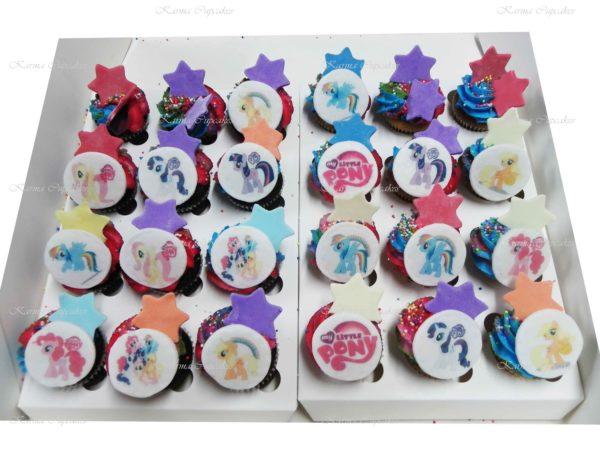 Rainbow Mini Cupcakes with Edible Image - Min 24