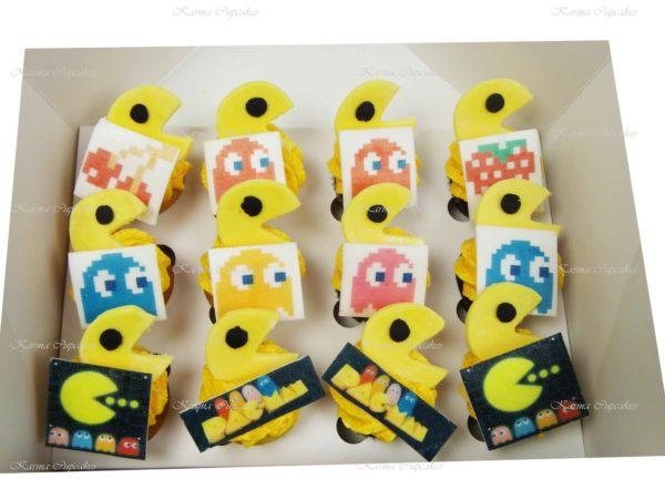 Pac-Man Mini Cupcakes