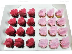 Red and Pink Heart High Tea Cupcakes