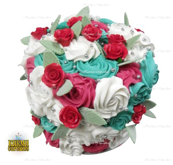 "6"" Rose Swirl Cake - choose your own colour/s"