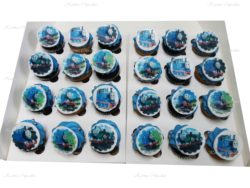 Thomas the Tank Engine Mini Cupcakes