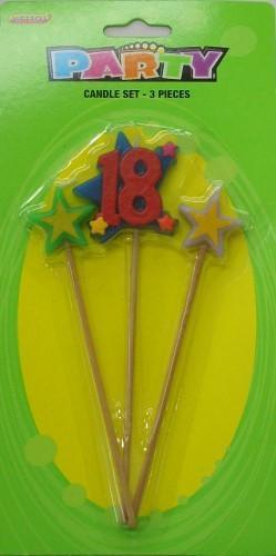 Number 18 Candle Set