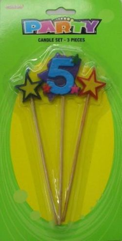 Number 5 Candle Set
