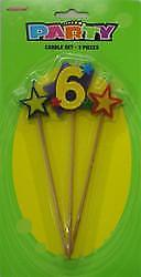 Number 6 Candle Set
