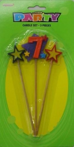 Number 7 Candle Set