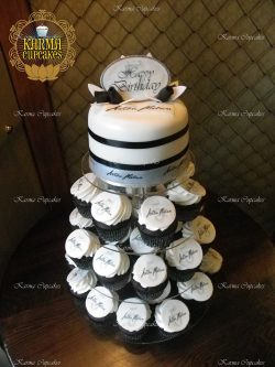 "Corporate 6"" Cake with Cupcake Tower"