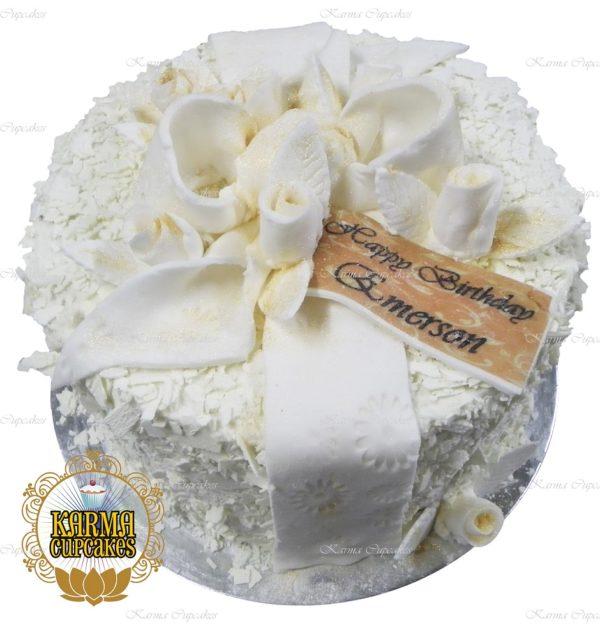 """8"""" White Chocolate Cake"""