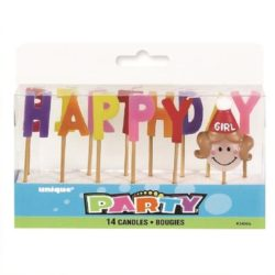 Happy Birthday Girl Candle Set
