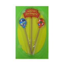 Happy Birthday with 2 Balloons Candle Set