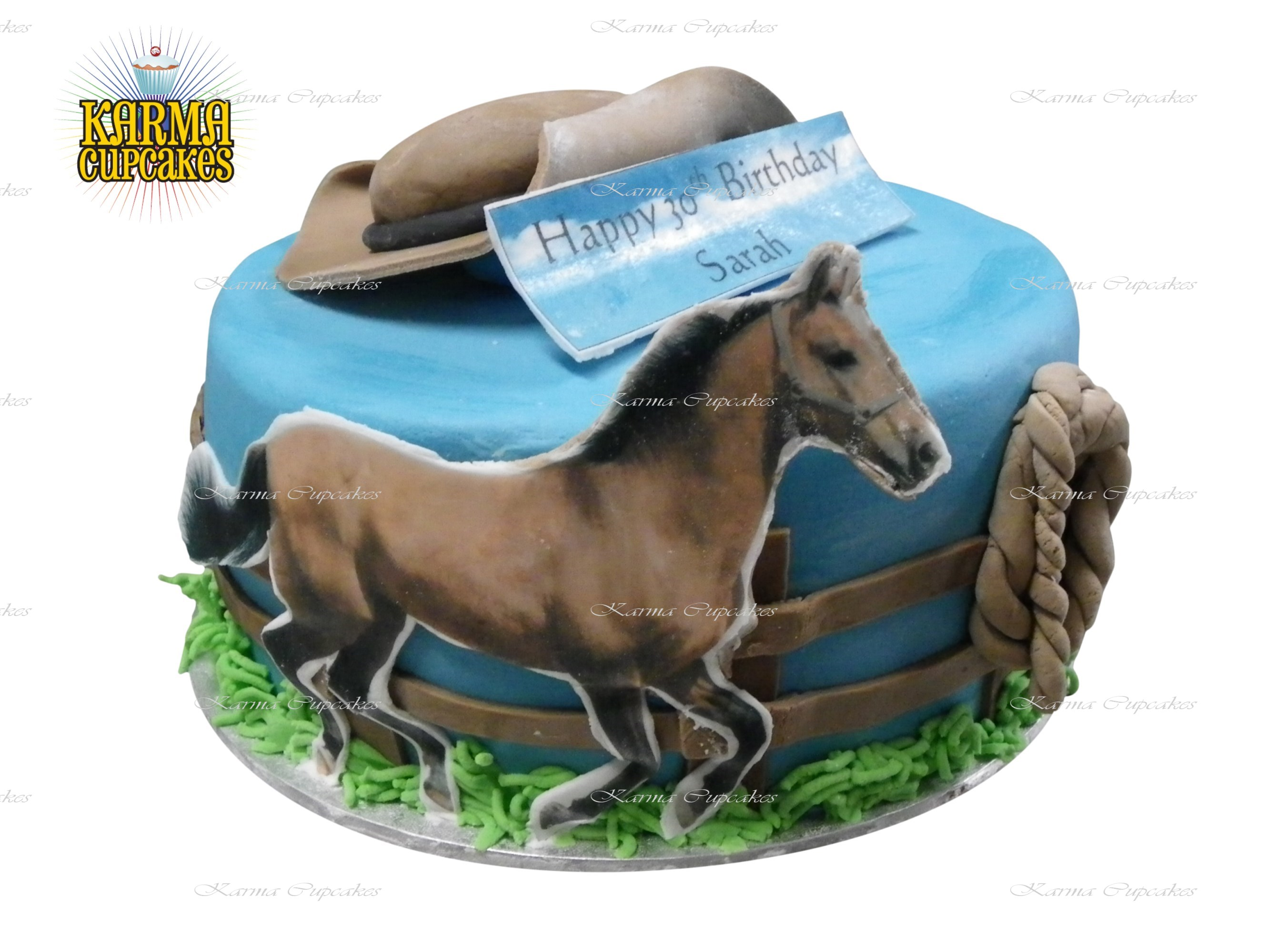 Remarkable Horse Themed 8 Cake With Edible Image Funny Birthday Cards Online Alyptdamsfinfo