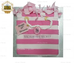Victoria's Secret Handbag Cake with Edible Message