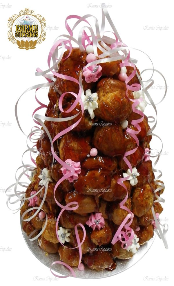 Pink and White Croquembouche