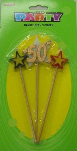 Number 50 Candle Set