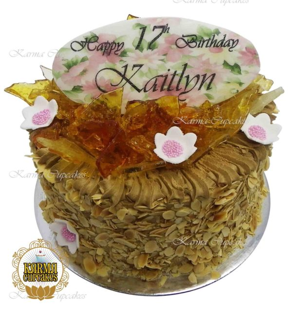 Almond Covered Pralin Birthday Cake