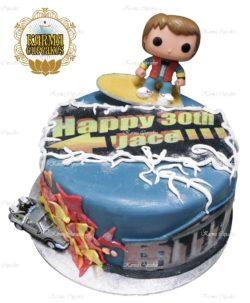 Back to the Future Birthday Cake