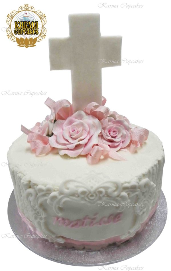 Baptism or Christening Cake - Choose your colour