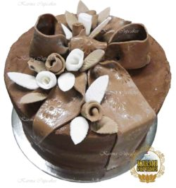 "8"" Chocolate Vegan Ribbon Bow Cake"