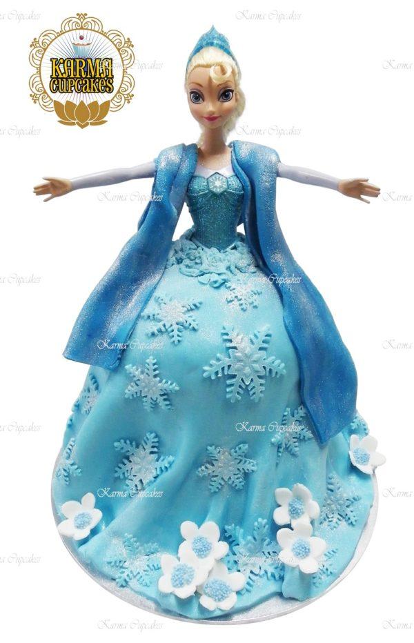 Elsa 3D Doll Cake