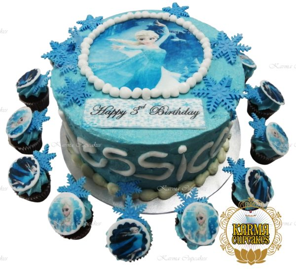 Frozen Themed Cake with Edible Image