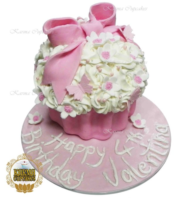 Giant Cupcake with Sugar Bow - choose your colour/s