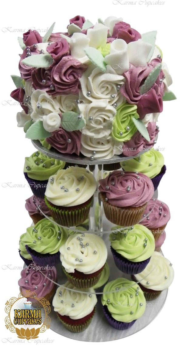 "6"" Buttercream Rose Swirl Cake to top your Cupcake Tower - choose your colours"