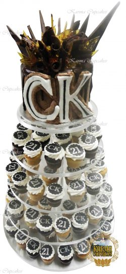 Toffee and Chocolate Shards 6'' cake for your cupcake tower
