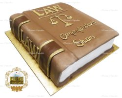 3D Law Book Cake