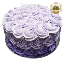 "8"" Ombre Rose Swirl Buttercream Cake - Choose your colour"