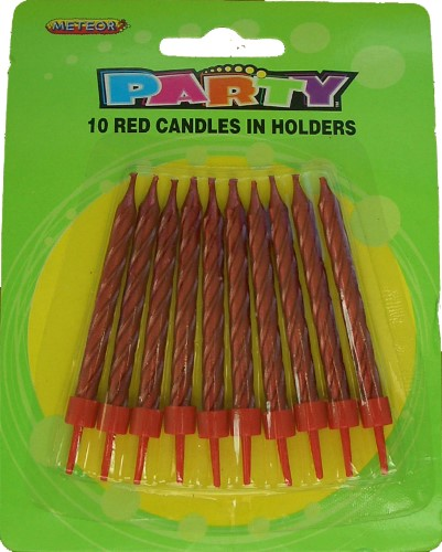 10 Red Candle Set