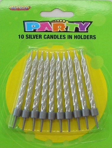10 Silver Candle Set