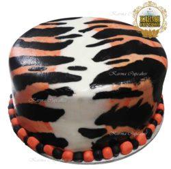 Tiger Skin 8 inch Cake