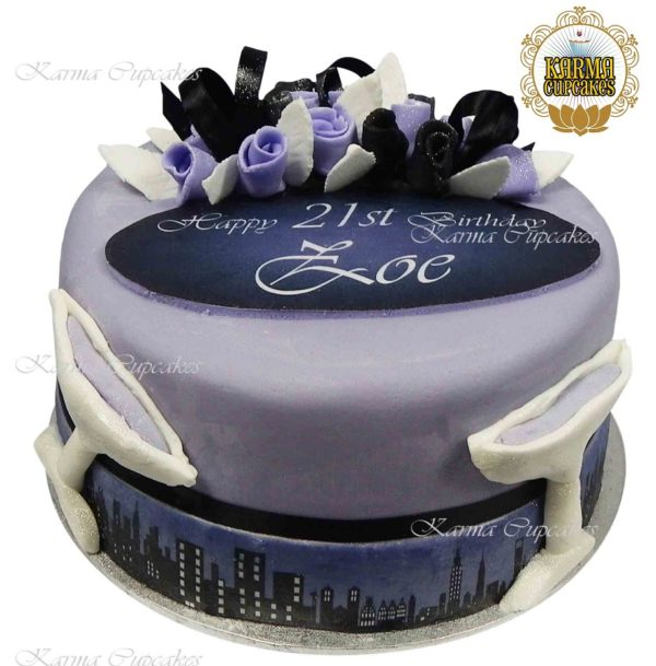 "Cityscape 8"" Cake - Choose your colours"