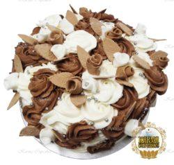 """8"""" Chocolate Vegan Rose Swirl Cake"""