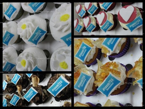 Mystery box of Gourmet Cupcakes with a Corporate Edible Image/ Logo