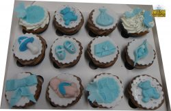 Baby Shower Cupcakes - All different designs (Blue or Pink)