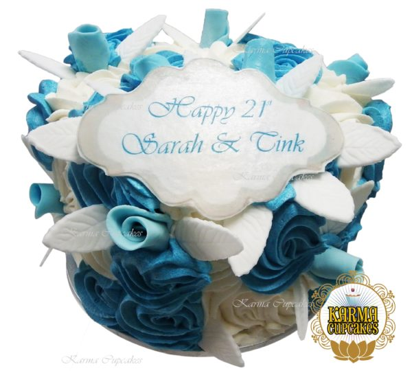 """8"""" Rose Swirl Cake - choose your own colour/s"""