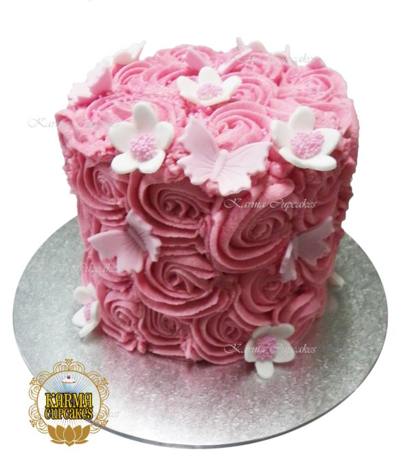 "8"" Rose Swirl Cake - choose your own colour/s"