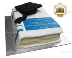 3D Graduation Book with Cap Cake