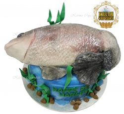 3D Fish Birthday Cake