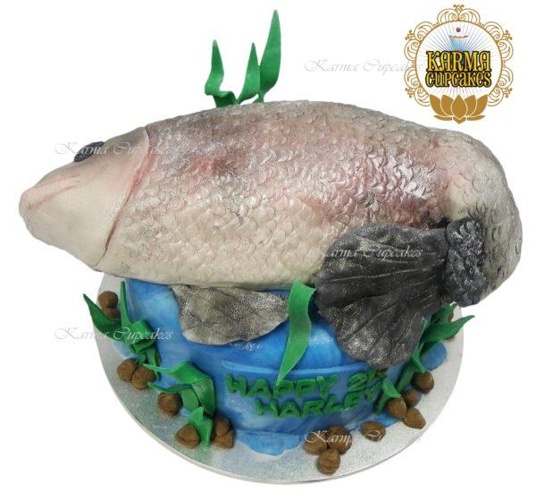 3D Fish Birthday Cake