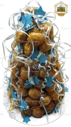 Croquembouche with edible stars (choose your colour theme)