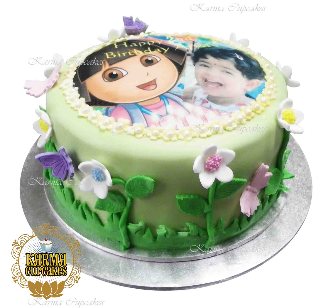 Phenomenal Dora The Explorer Birthday Cake Funny Birthday Cards Online Alyptdamsfinfo
