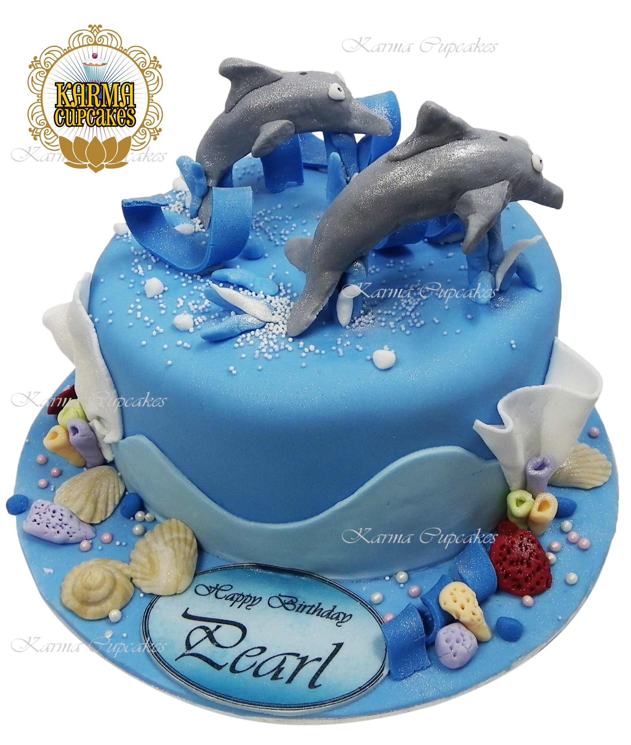 Cool 3D Dolphins Under The Sea Cake Funny Birthday Cards Online Alyptdamsfinfo