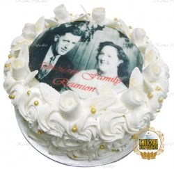Family Reunion Cake with Edible Image