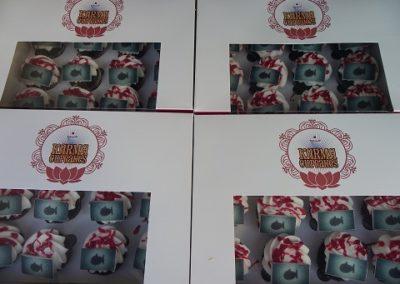 Put your logo on a mini cupcake- karma cupcakes gold coast