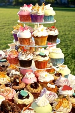 Birthday Cupcake Tower