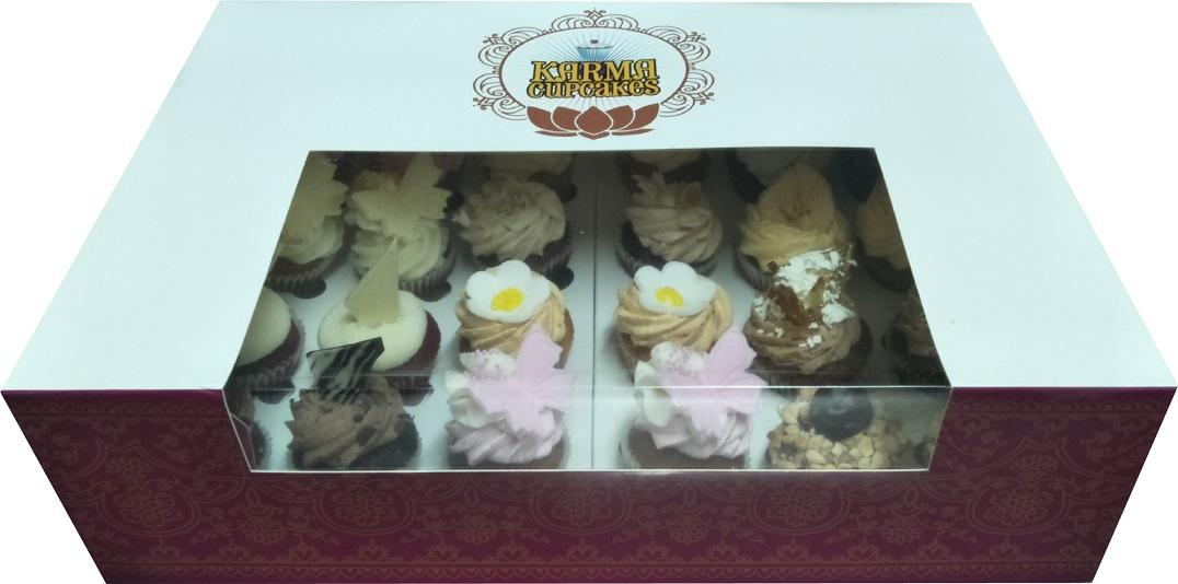 24 high tea mini cupcakes