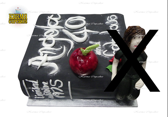 black book cake with apple