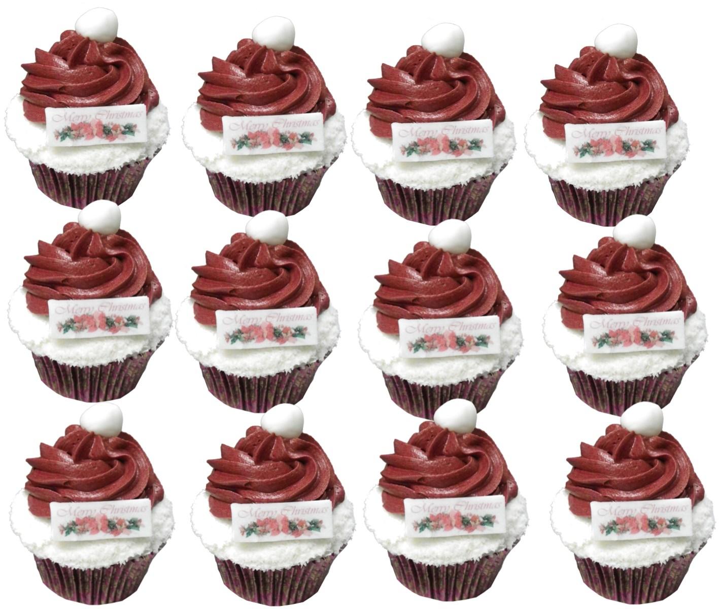 12 Santa Hats mini cupcakes