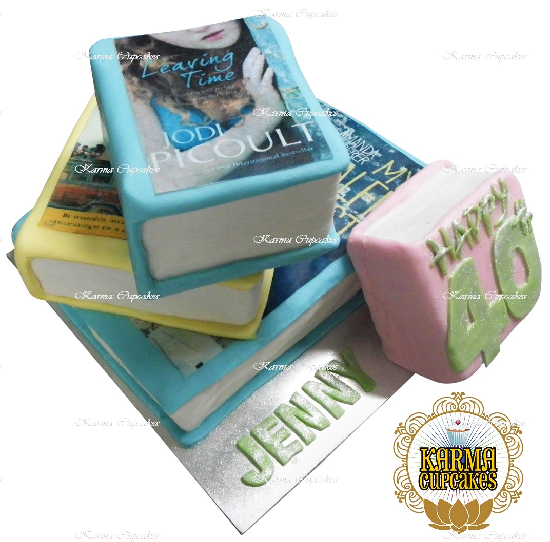 3D Stack of Books Cake